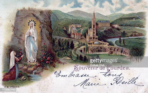 Lourdes France Bernadette Soubirous14yearold French peasant girl from Lourdes thought she saw seen a 'lady' in the cave of Massabielle about a mile...