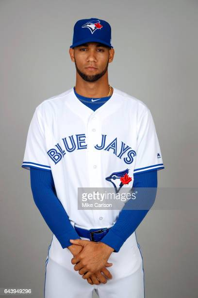 Lourdes Gurriel of the Toronto Blue Jays poses during Photo Day on Tuesday February 21 2017 at Florida Auto Exchange Stadium in Dunedin Florida