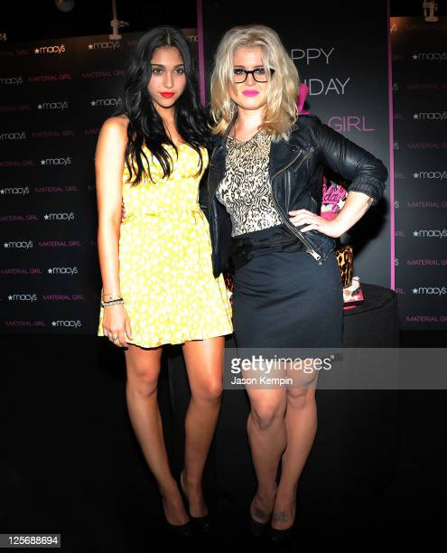 Lourdes Leon and Kelly Osbourne attend the Material Girl 1st birthday celebration at Macy's Herald Square on September 20 2011 in New York City
