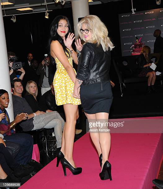 Lourdes Leon and Kelly Osbourne walk the runway during the Material Girl 1st birthday celebration at Macy's Herald Square on September 20 2011 in New...