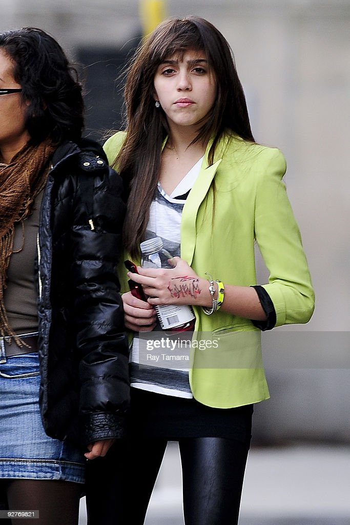 Lourdes Leon walks in Midtown Manhattan on November 04, 2009 in New York City.