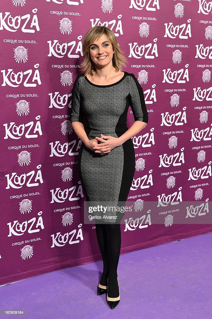 Lourdes Maldonado attends 'Cirque Du Soleil' Kooza 2013 premiere on March 1, 2013 in Madrid, Spain.