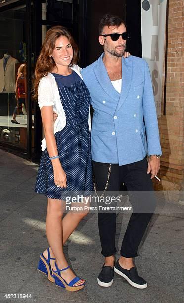 Lourdes Montes and designer Roberto Diz are seen on July 7 2014 in Seville Spain