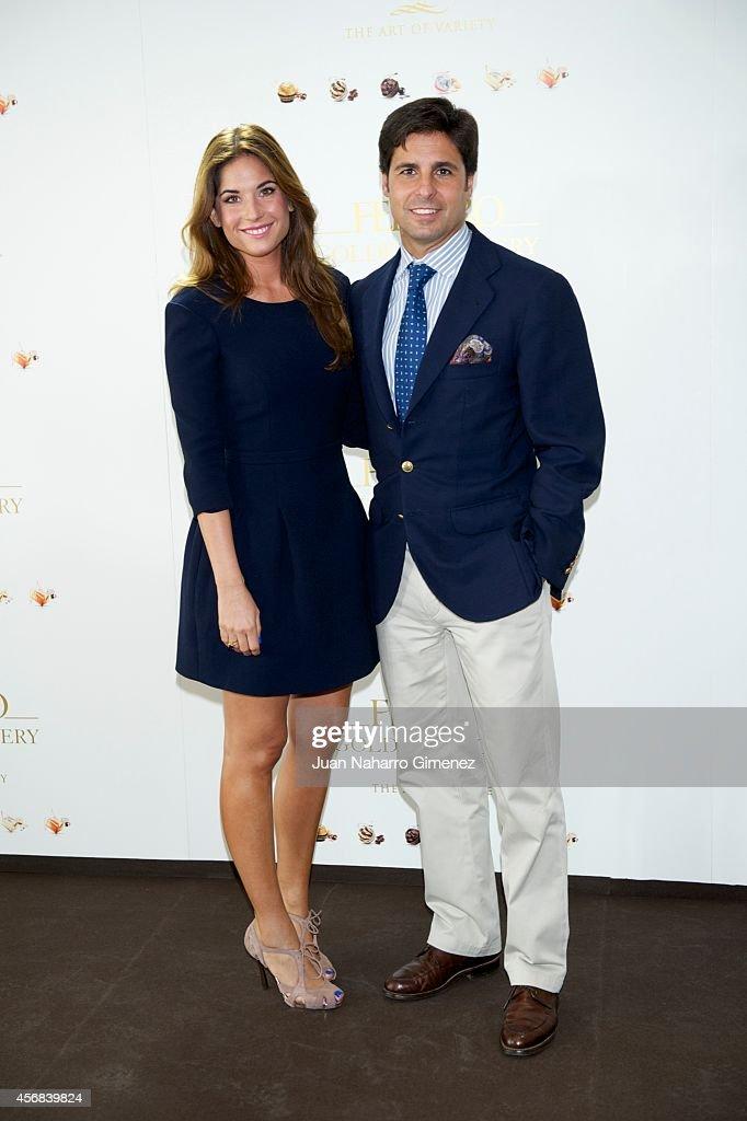 Lourdes Montes and Fran Rivera attend 'Ferrero Golden Gallery' presentation at Museo ThyssenBornemisza on October 8 2014 in Madrid Spain