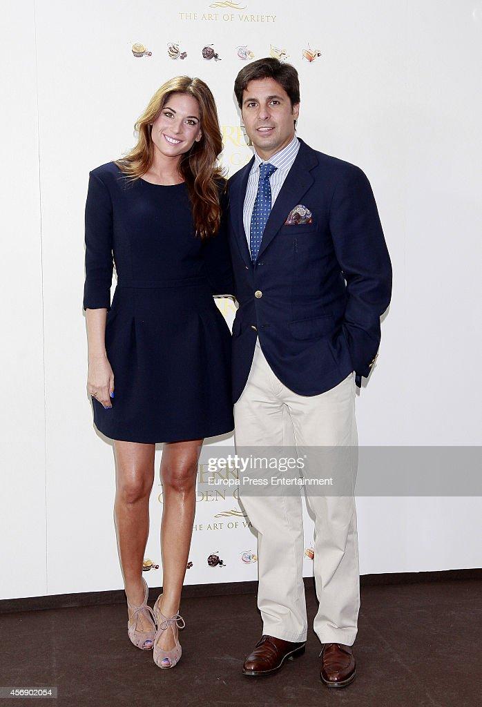 Lourdes Montes and Fran Rivera attend 'Ferrero Golden Gallery' presentation on October 8 2014 in Madrid Spain