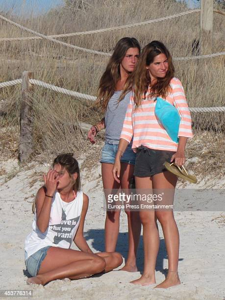 Lourdes Montes and Sibi Montes are seen on July 30 2014 in Formentera Spain