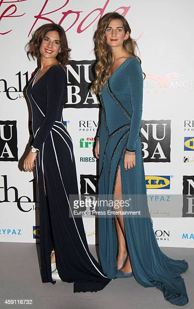 Lourdes Montes and Sibi Montes attend their debut as designers at Palacio de Exposiciones y Congresos on November 14 2014 in Seville Spain