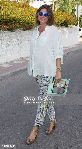 Lourdes Montes attends bullfighting on July 12 2015 in Estepona Spain
