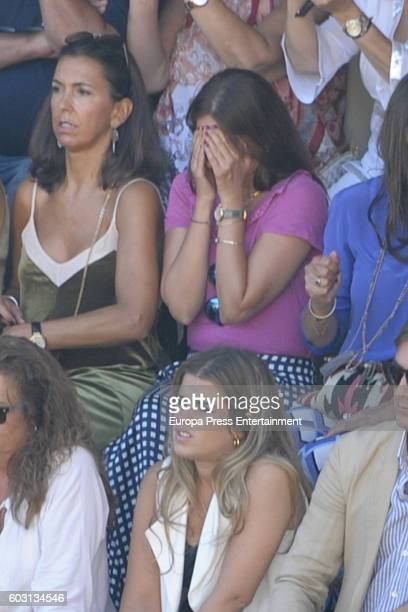 Lourdes Montes attends Goyesca Bullfights on September 10 2016 in Ronda Spain The bullfight events linked to The Feria Goyesca stem from the...