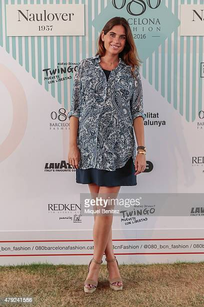 Lourdes Montes attends the '080 Barcelona Fashion AutumnWinter 20152016' at the Lluis Companys Olympic Stadium on July 2 2015 in Barcelona Spain
