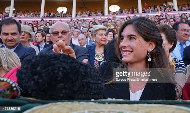Lourdes Montes attends the bullfighting at April's Fair at Maestranza bullring on April 24 2015 in Seville Spain