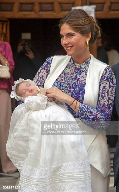 Lourdes Montes attends the christening of her daughter Carmen Rivera on October 23 2015 in Seville Spain