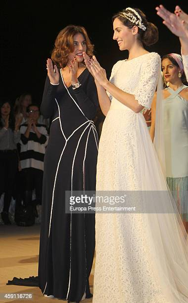 Lourdes Montes attends the debut as designers of Lourdes Montes and Sibi Montes at Palacio de Exposiciones y Congresos on November 14 2014 in Seville...