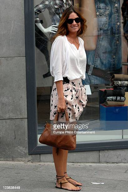 Lourdes Montes attends the 'Goyesca' Bullfights on September 3 2011 in Ronda Spain The bullfight events linked to The Feria Goyesca stem from the...