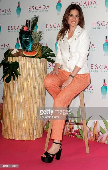 Lourdes Montes attends the new Escada fragance photocall at Jardin del Angel on March 26 2014 in Madrid Spain