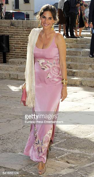Lourdes Montes attends the wedding of Isabel MunozRojas and Yago Matossian Falco on June 18 2016 in Antequera Spain
