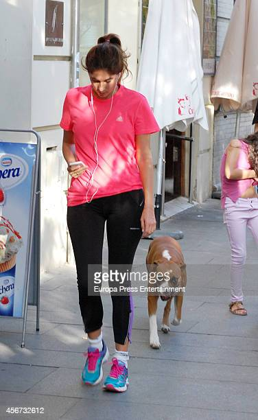 Lourdes Montes is seen doing footing on September 23 2014 in Seville Spain