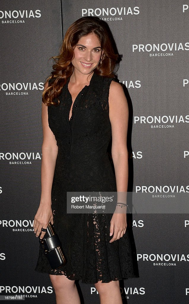 Lourdes Montes poses for a photocall before the Pronovias bridal fashion show during Barcelona Bridal Week 2013 on May 3, 2013 in Barcelona, Spain.