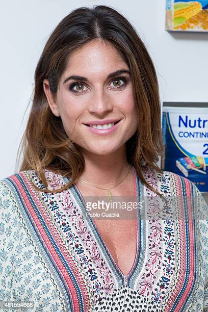 Lourdes Montes presents the Nutriben Milk Factory on July 22 2015 in Madrid Spain
