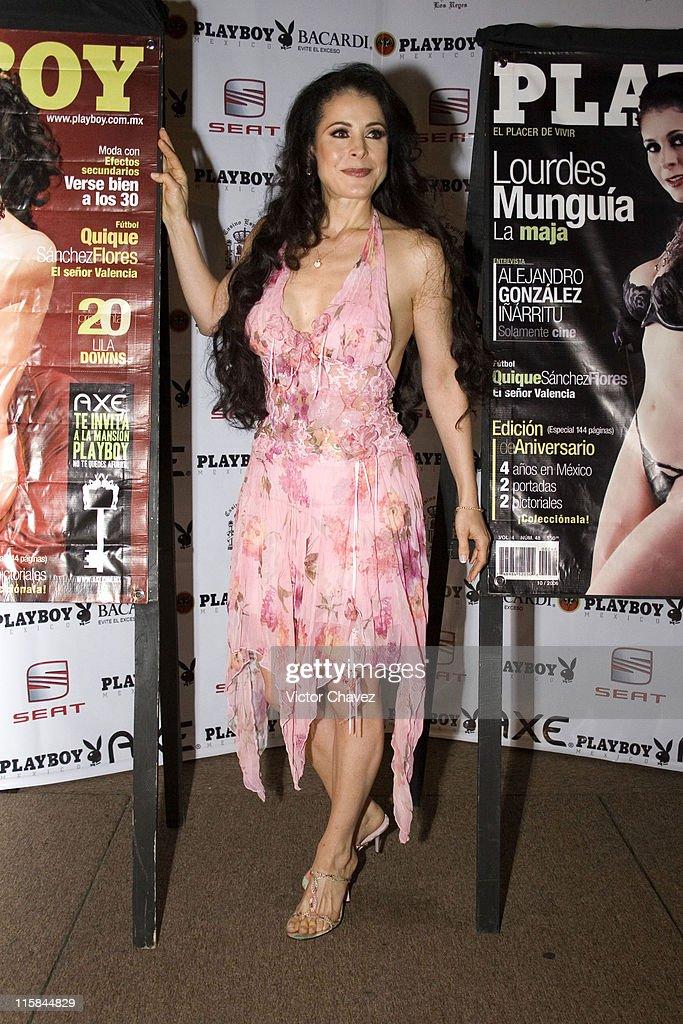 Lourdes Munguía during Playboy Mexico Magazine 4th Anniversary at Casino Español in Mexico City, Mexico City, Mexico.
