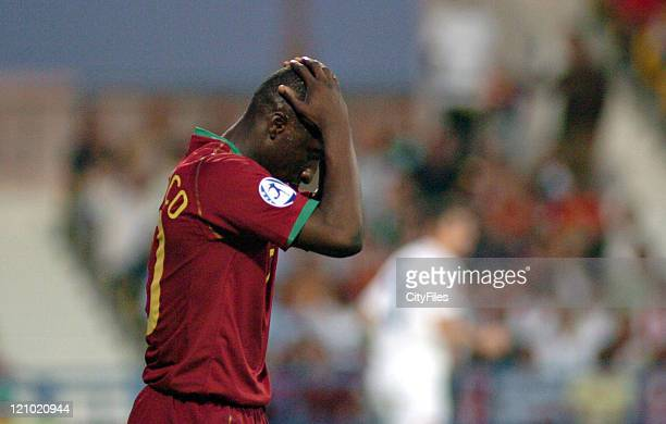 Lourenço of Portugal during 2006 UEFA European Under 21 Championship Group A match between Portugal and Serbia and Montenegro in Barcelos Portugal on...