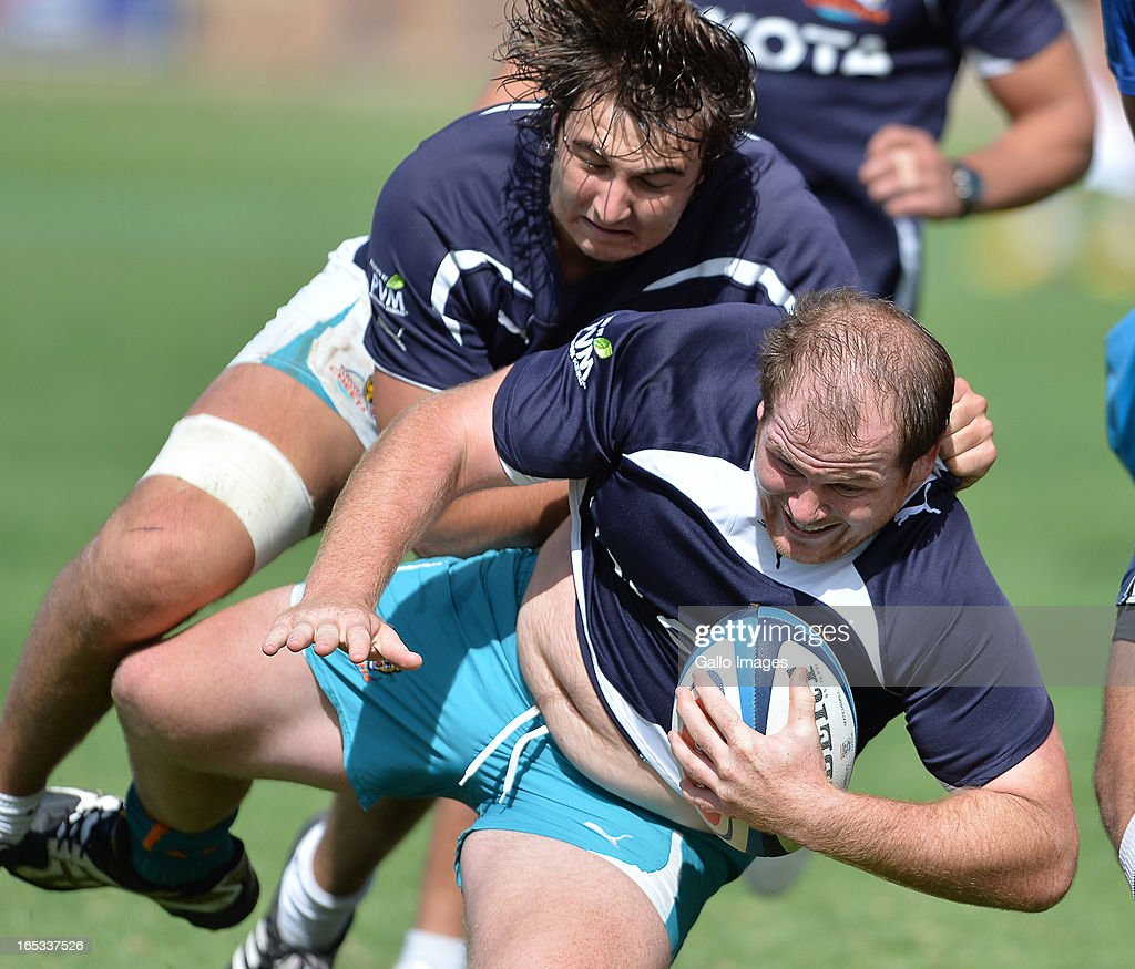 Lourens Adriaanse during the Toyota Cheetahs training session at Shimla Park on April 03, 2012 in Bloemfontein, South Africa.