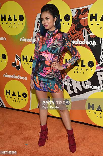 Louriza Tronco attends the 2015 Nickelodeon HALO Awards at Pier 36 on November 14 2015 in New York City