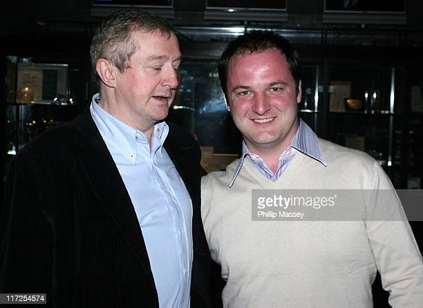 Lous Walsh and former Boyzone member Mikey Graham during Shayne Ward Louis Walsh and Former Boyzone Member Mikey Graham at the Late Late Show Dublin...