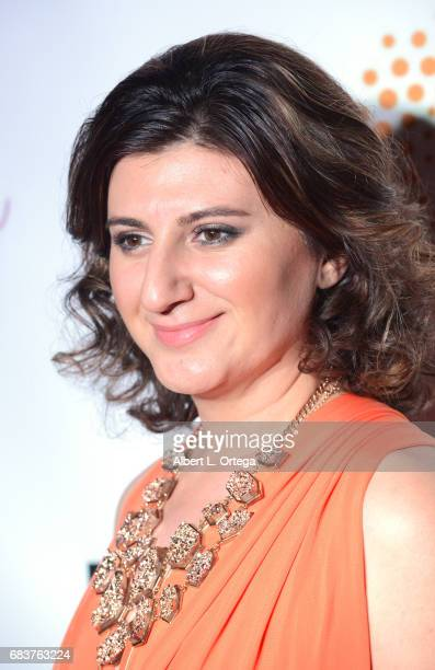 Lousine Karibian of the World Networks at Sai Suman's Official Hollywood Runway Fashion Show held at Sofitel Hotel on April 11 2017 in Los Angeles...