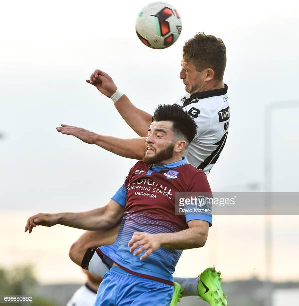 Louth Ireland 16 June 2017 Dane Massey of Dundalk in action against Adam Wixted of Drogheda United during the SSE Airtricity League Premier Division...