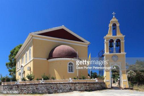 Loutses village, Corfu Island : Foto de stock