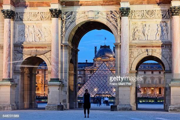 Louvre and Arc de Triomphe