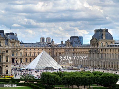 Louvre Museum and Pei's Pyramid.