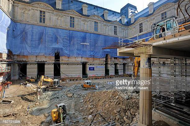 Louvre art museum musee stock photos and pictures getty images - Construction of the louvre ...