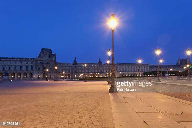 Louvre Museum in Paris at dawn