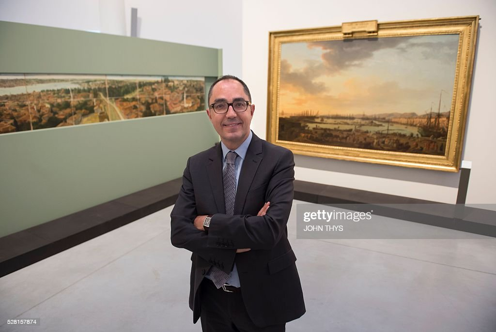 Louvre museum President, ean-Luc Martinez attends the inauguration of the La Boverie museum on May 4, 2016 in Liege. The new museum La Boverie was inaugurated today, with an exhibition organised in partnership with Le Louvre museum. / AFP / JOHN