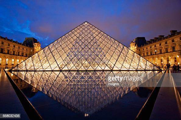 Pyramide du louvre stock photos and pictures getty images - Pyramide du louvre pei ...
