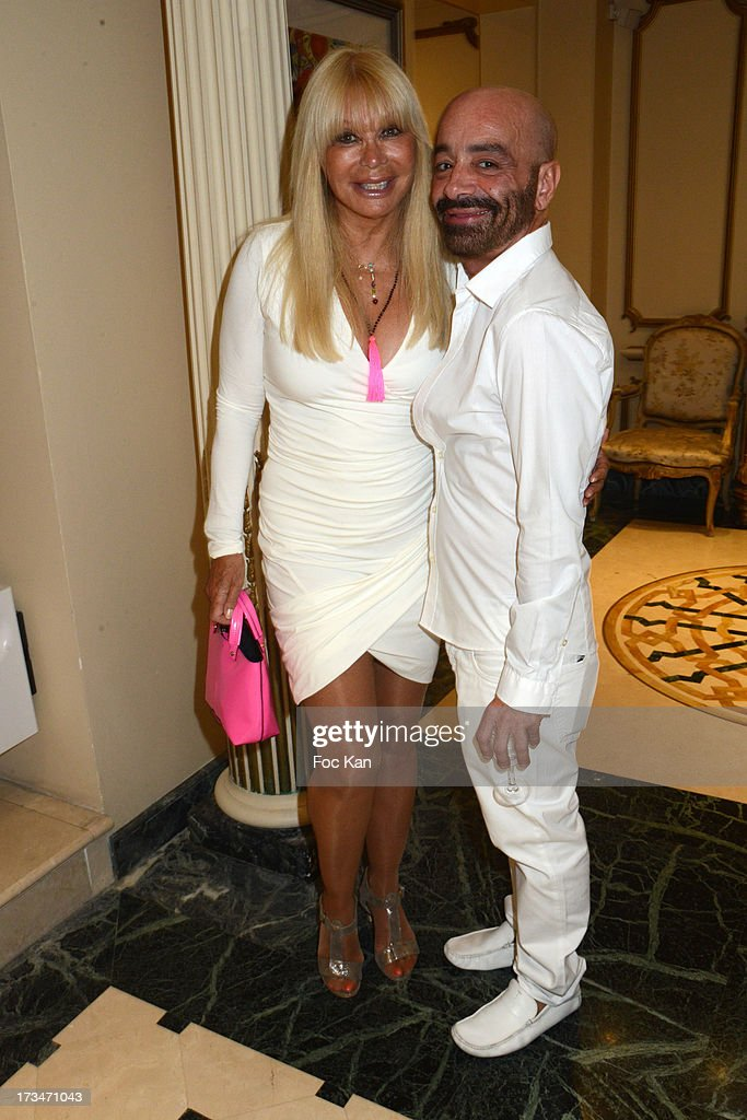 Lova Moor and Fashion designer Simon Azoulay attend the 14th July White Party at the Pierre Guillermo residence on July 14, 2013 in Paris, France.