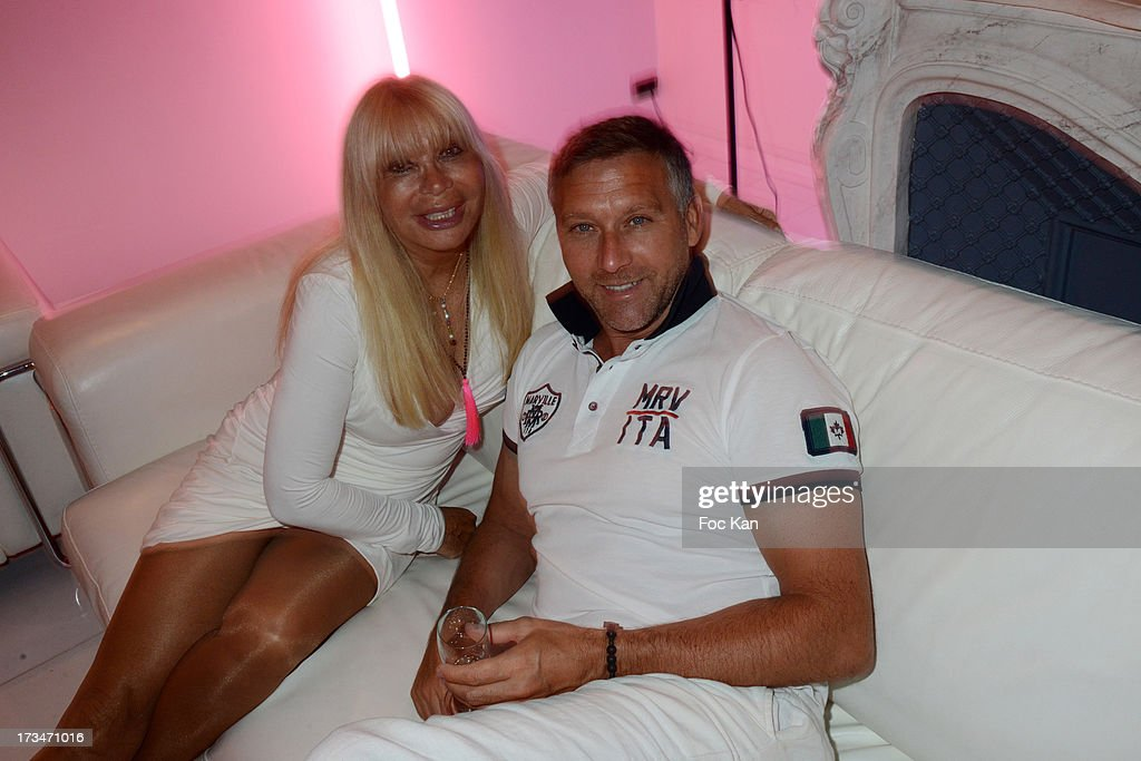 Lova Moor and Yann attend the 14th July White Party at the Pierre Guillermo residence on July 14, 2013 in Paris, France.