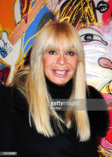 Lova Moor attends the Isa Sator Exhibition Launch at the Virgin Megastore Cafe on October 19 2010 in Paris France