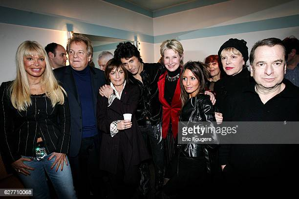 Lova Moor jetsetter Massimo Gargia actress Nicole Calfan singer and club owner JeanLuc Lahaye TV presenter Danièle Gilbert humorist Sylvie Joly and...