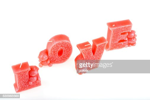 love and candle : Stock Photo