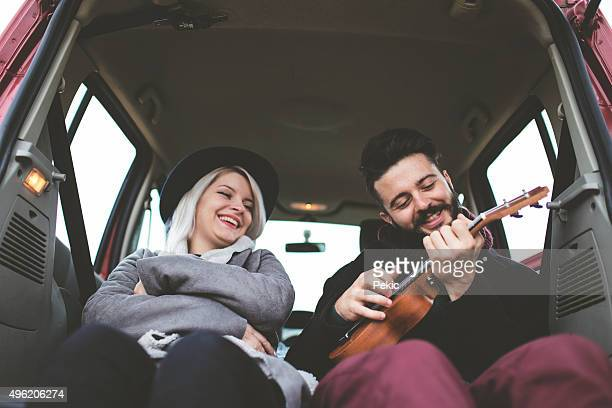 Love and music in car trunk