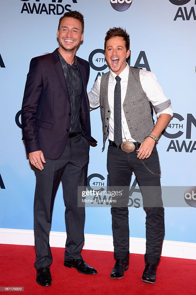 Love and Theft attends the 47th annual CMA Awards at the Bridgestone Arena on November 6, 2013 in Nashville, Tennessee.