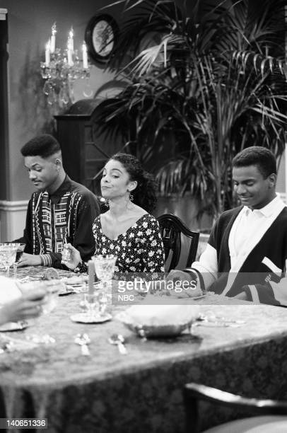 AIR 'Love at First Fight' Episode 21 Pictured Will Smith as William 'Will' Smith Jasmine Guy as Kayla Samuels Alfonso Ribeiro as Carlton Banks Photo...