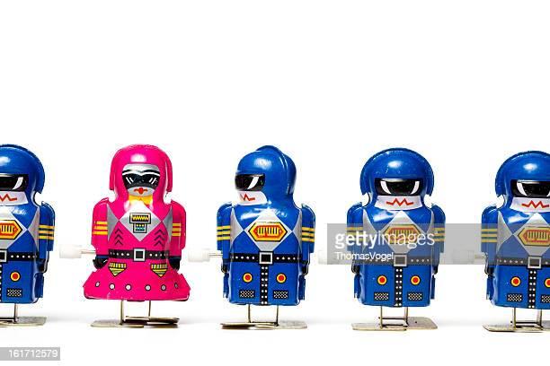Liebe auf den ersten Blick – Retro-Tin Roboter Humor lustige