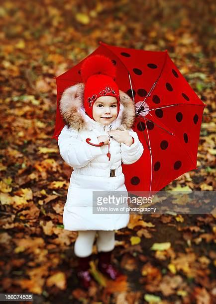 I love autumn! Take umbrella with you and smile!
