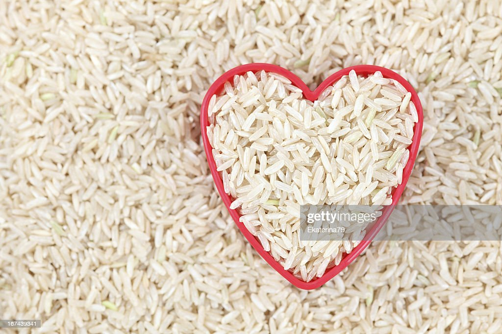 I love brown rice : Stock Photo