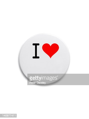 'I love' button badge : Stock Photo