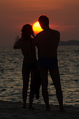 Love couple and sunset